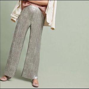 Anthropologie Elevenses Glistened Knit Wide Leg